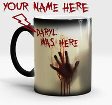 WALKING DEAD PERSONALIZED NAME ZOMBIE Magic Color Changing Coffee Mug Christmas