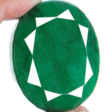 319 Cts Huge Rare Natural Brazilian Emerald Supreme Green Earth Mined Gemstone