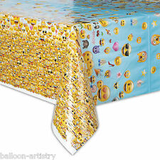 """54""""x84"""" Official Emoji Smiley Face Birthday Party Plastic Table Cover"""