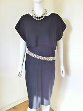 Ladies Black Jaeger Jumper Dress Silk and Wool Size S  (Acessories not included)
