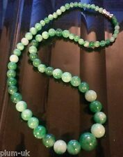 """Plum UK 18"""" / 45cm natural stone jade necklace with screw clasp BOXED"""