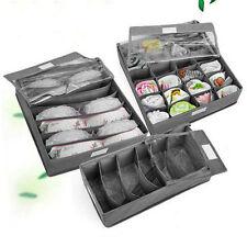 3PCS Underwear Bra Socks Ties Divider Closet Container Storage Box Organizer HC