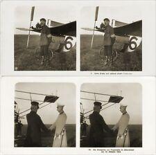 16 Stereofotos von alten Flugzeugen um 1920 - Johannistal, Serie 3