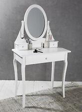 Schminktisch mit Spiegel 3 Schubladen weiß Kosmetiktisch Frisierkommode