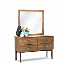 Scandinavian Danish Retro Modern Timber Dressing Table Chest of Drawers Mirror