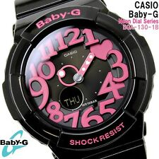 CASIO BABY-G LADIES WATCH BGA-130-1B FREE EXPRESS BLACK / PINK BGA-130-1BDR