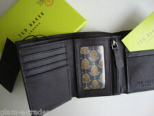 TED BAKER Men's Brown Leather Trifold Wallet BNIB BNWT