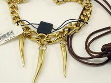 D & G Kette , 140 cm lang, Metall & Leder, Dolce Gabbana