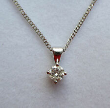 Brand New Fifth 1/5 carat Diamond Solitaire 18ct Pendant and 18 inch Chain £249