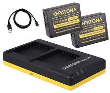 2 x Patona Akku + Dual-Ladegerät für Fuji-Film X-Pro1 / X-Pro2 - NP-W126-S