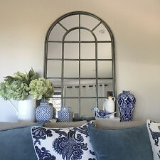 Stunning Metal Arch Window Mirror/Arched Window Panes/Hamptons French Provincial
