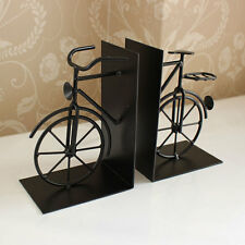 bicycle bookends metal divider black vintage book chic bike shabby