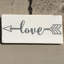 Love Arrows Wooden Sign Plaque Shabby Chic Art Present