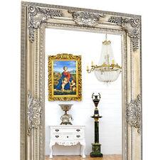 LUXUS WANDSPIEGEL silbern [ca.156x96cm] SILBER SPIEGEL HOLZ RAHMENSPIEGEL kaufen