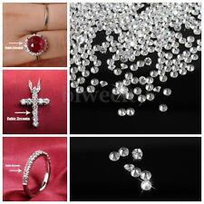 1000pcs 18g Round Shape AAA Clear White Crystal Loose Cubic Zirconia Stone