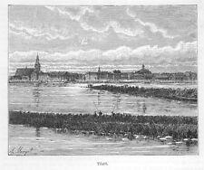 Sowetsk, Tilsit, Kaliningrad, Königsberg, Original-Holzstich von 1888