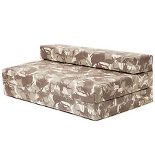 Double Sofa Bed Desert Camouflage Z Foam Fold Out Futon Gaming Camping Boys Seat