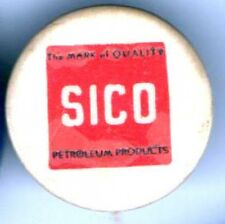Vintage pin SICO pinback PETROLEUM Products Mark of Quality button
