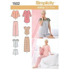 SIMPLICITY SEWING PATTERN MISSES' PANTS OR SHORTS NIGHTSHIRT OR TOP XS-XL 1502