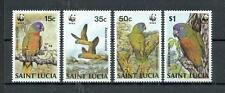 St. Lucia  909 - 12  WWF  Papagei   Vögel - Birds  **  (mnh)