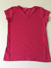 V neck Fuchsia t-shirt 6 years Simple plain,deep pink