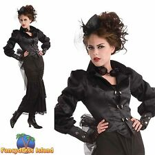 STEAMPUNK OLD ENGLAND VICTORIAN - One Size - womens ladies fancy dress costume