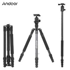 "Carbon Fiber 64"" Professional Tripod Monopod with Ball Head for DSLR Camera B4Q7"