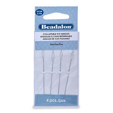 Collapsible Eye Needles, 2.5 in (6.4 cm), Fine, 4 pc