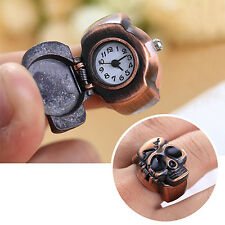 Men Skull Finger Ring Watch Clamshell Ring Watch Xmas Gift