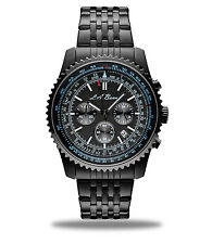 MENS LA BANUS BLACK BOSS CHRONOGRAPH WRIST WATCH STAINLESS STEEL NEW WITH TAG