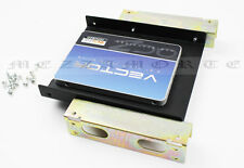"2.5'' or 3.5'' SSD HDD to 5.25"" PC CD Rom Slot Bay Adapter Bracket Dock + Screws"