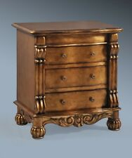 SOLID MAHOGANY ANTIQUE OLD GOLD GILT FRENCH ITALIAN ORNATE BOUDOIR SIDE TABLE