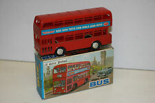 BLUE BOX PLASTIC DINKY TOYS SIZED MODEL OF A DOUBLE DECK BUS