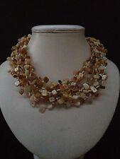 Wedding Party Prom Mother Of Pearl Shell Jewellery Multi Strand Necklace