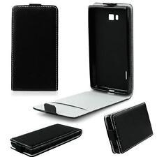 SLIM FLEXI Flip Tasche Case Klapp Hülle für Apple iPhone 4 4S - Schwarz NEU