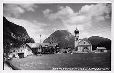 Foto AK Oberleutasch Xanderwirt Kirche Postkarte 1938