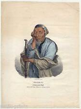 Pe-che-co, a Pottowattomie Chief-Indianer-Indian - Lithographie J. O. Lewis 1835