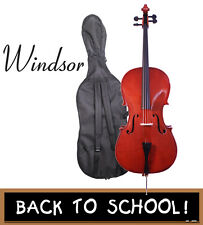 WINDSOR CELLO STUDENT FULL SIZE WITH BAG BOW AND ROSIN 4/4