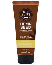 EARTHLY BODY HEMP SEED HAND & BODY LOTION  NAG CHAMPA NUTRIENT MOISTURIZER 7 oz