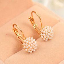 Korean Women Pearl Beads Ear Stud Earrings Fashion Wedding Party Jewelry Gift