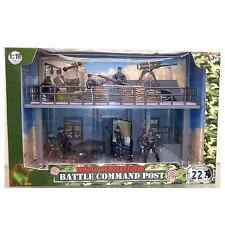 World Peacekeepers Army Battle Command Post HQ With 6 Military Figures 3+Years