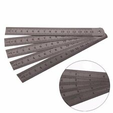 "5Pcs 6"" 15cm Stainless Steel Metric Metal Ruler Rule precision Double Sided"