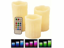 3 Battery Electric Wax Scented Colour Changing Flickering LED Candles Sale