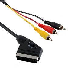 SCART ADAPTERKABEL, Audio, Video, Scart auf 3 x Cinchstecker mit in/out Schalter