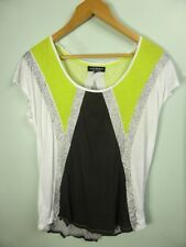 REDUCED!! black white Silver Fluro loose fit tshirt top sz S 8