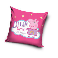 NEW LICENSED PEPPA PIG Dream Time with Peppa cushion cover 40x40cm 100% COTTON