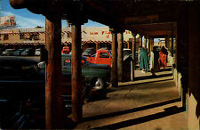 Taos New Mexico America postcard 1969 Playa old Courthouse Building Auto Cars