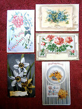 FIVE GREETING  POSTCARDS  FEATUREING  FLOWERS  IN COLOUR   {31}
