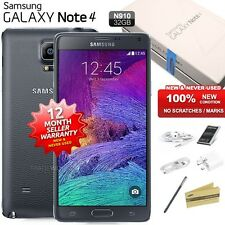 New Sealed Unlocked SAMSUNG Note 4 N910 Black 4G LTE 32GB Android Mobile Phone