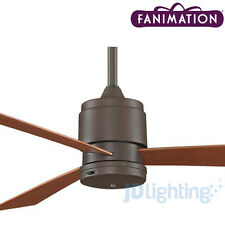 "FANIMATION ZONIX OUTDOOR 52"" CEILING FAN - OIL RUBBED BRONZE - WET LOCATION"